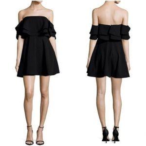 Keepsake Black Serenity Tiered Mini Dress NWT D4